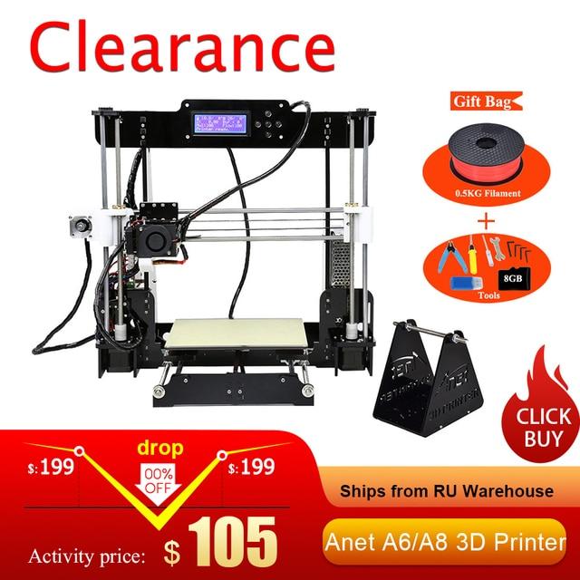 쉬운 조립 Anet A6 Anet A8 3D 프린터 키트 i3 키트 DIY 키트 SD 카드 + 필라멘트 + 도구와 3D 인쇄 기계