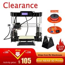 Einfach Montieren Anet A6 Anet A8 3D Drucker Kits i3 Kit DIY Kits 3D Druck Maschine mit SD Karte + filament + Werkzeuge