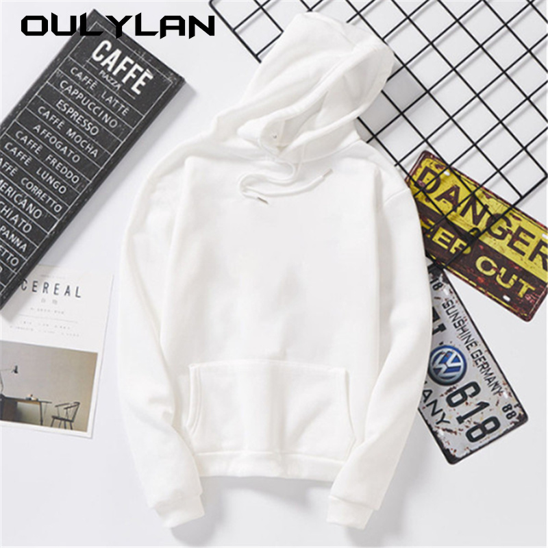 Oulylan Women Hoodies Autumn Loose Sweatshirt Harajuku Hoodie Sweatshirts Pullover Tops Blouse With Pocket Fashion Clothes