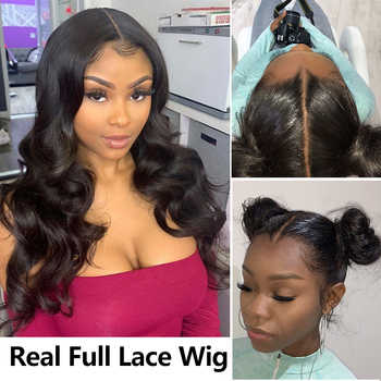 Pre Plucked Full Lace Human Hair Wigs For Women Body Wave Fake Scalp HD Transparent 30 Inch 360 Lace Front Wigs Brazilian Remy