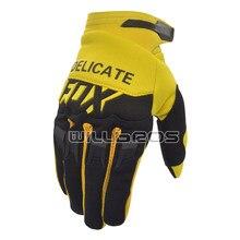 Fox – gants de course pour vélo de montagne tout-terrain pour hommes, maille à Air, pour Motocross, noirs et jaunes