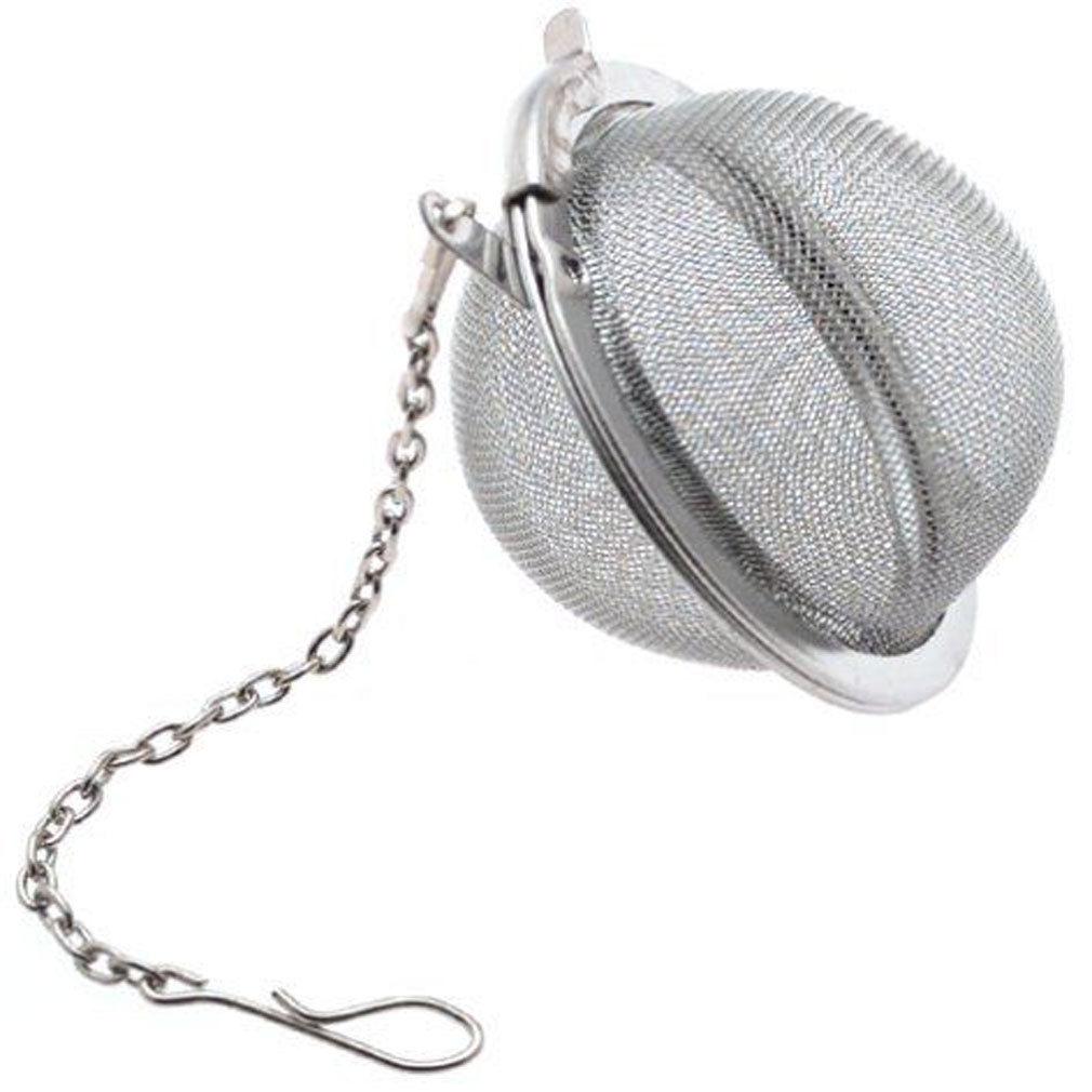 נירוסטה כדור תה Infuser מסנן רשת מסננת w/וו Loose תה העלים ספייס כדור עם חבל שרשרת בית מטבח חדש