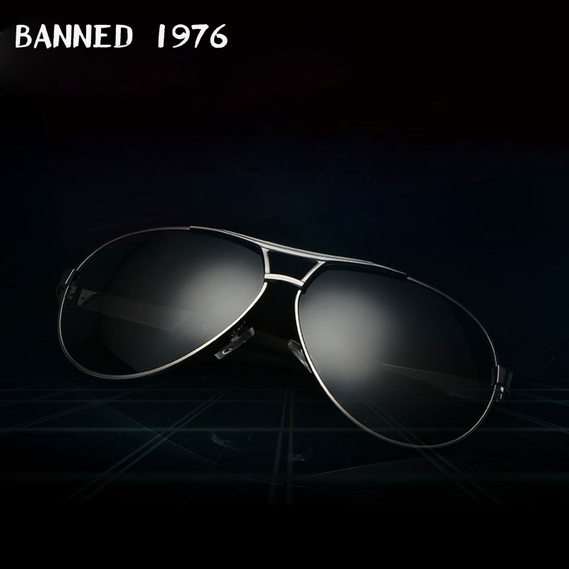 BANNED 1976 Fashion Unisex Sunglasses Pilot SunglassesAluminum Magnesium High Quality Polarized Mirror Sun Glasses image