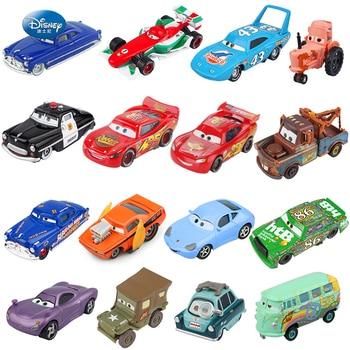 Disney Pixar Cars 2 3 Lightning McQueen Mater Jackson Storm Ramirez 1:55 Diecast Vehicle Metal Alloy Boy Kid Toys Christmas Gift 1 43 disney pixar cars 3 thunder hollow lightning mcqueen taco jimbo t bone diecast model cars christmas gift toys for kid boy