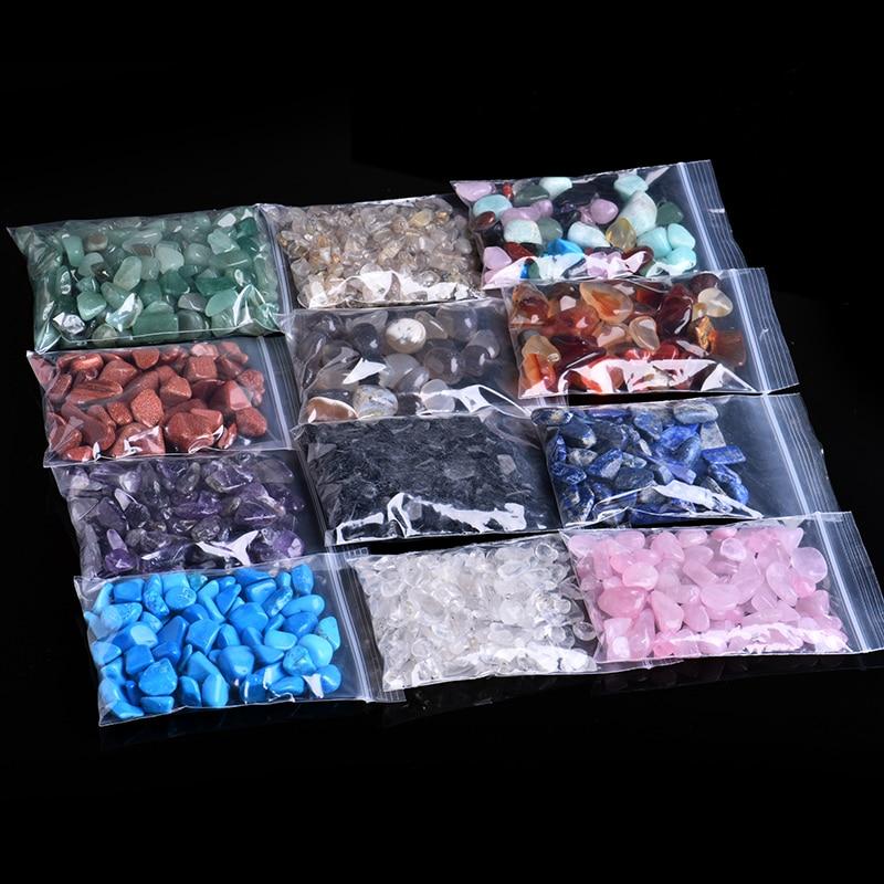 50g/100g Natural Crystal Stone Rose Quartz Ore Rock Magic Repair Point Family Decorations Fish Tank Stone Polishing Stone Gift