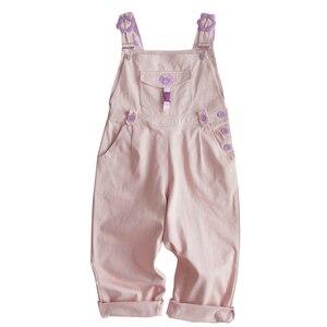 Image 3 - Mori Girl Cute Bear Women Jumpsuit Harajuku Kawaii Embroidery Teens Ankle length Overalls Pink Pants Vintage Loose Solid Romper
