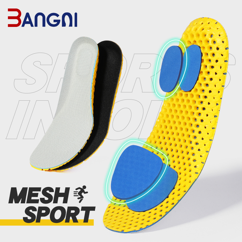Bangni Insoles Orthopedic Memory Foam Sport Support Insert Woman Men Shoes Feet Soles Pad Orthotic Breathable Running Cushion