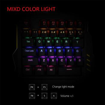 RedThunder One-Handed Mechanical Gaming Keyboard Cool Backlit Portable Mini Keypad Ergonomic Game Controller for PC Xbox Gamer 2