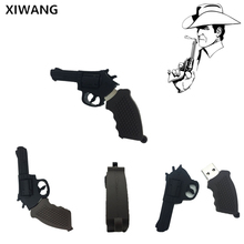 pistol usb flash drive 2.0 128GB pen Bulldog Revolver pendrive 32GB 64GB 16GB 8GB 4GB memory stick silicon