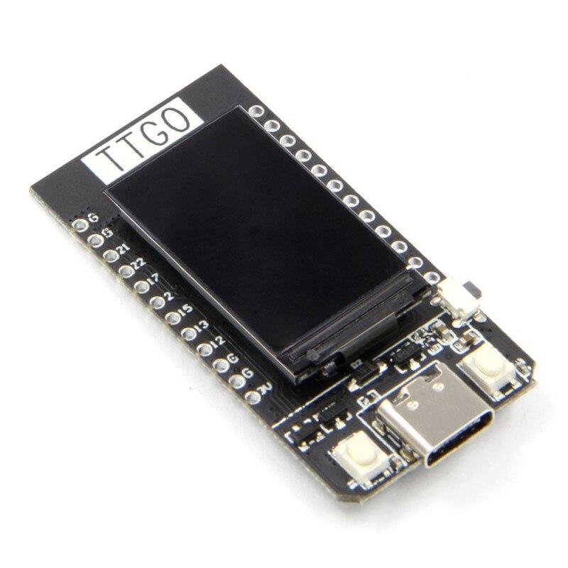 Alta qualidade ttgo t-display esp32 wifi e módulo bluetooth placa de desenvolvimento para arduino 1.14 posegada lcd