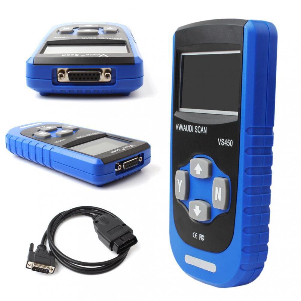 Vgate VS450 для чтения кодов диагностический сканер сброс ABS Сброс подушки безопасности для OBDII считыватель кодов диагностический сканирующий и...