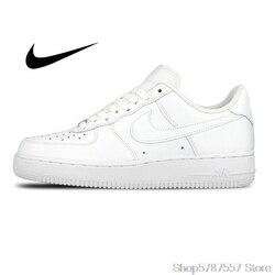 Original authentique Nike AIR FORCE 1 AF1 hommes chaussures de Skateboard en plein AIR mode classique chaussures de sport respirant 315122-111