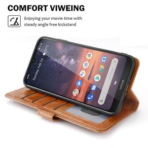Image 5 - Funda protectora para Nokia 7,2 Funda de cuero mate con tapa a prueba de golpes para Nokia 7,2 funda con ranura para tarjeta