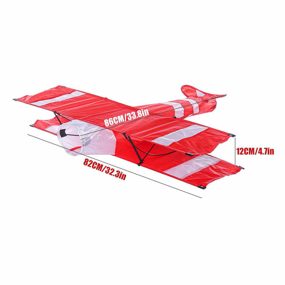3D Single Line Red White Kites Outdoor Fun Sports Beach Toy With Red Tail Toys