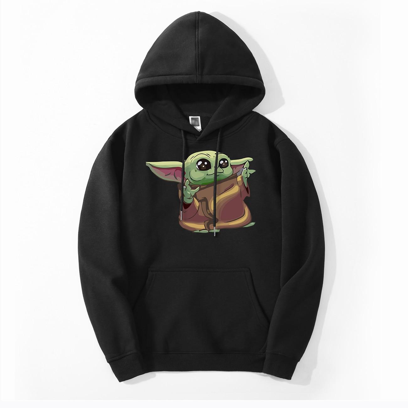 Bebe Yoda Men's Child Yoda Hoodies Spring Autumn Hoodies Sweatshirts Men Fleece Tops The Mandalorian Star War Hoodies Sweatshirt
