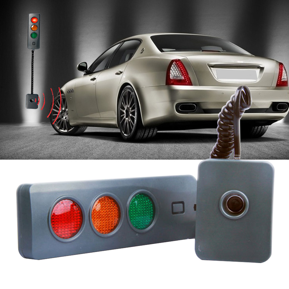 3Colors Stop Indicators Durable Position <font><b>Guide</b></font> Automatic Assisting <font><b>Car</b></font> Parking Sensor System For Garage Led Home <font><b>Battery</b></font> Powered image