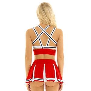 Image 3 - Ons Uk Voorraad Vrouwen Japanse Schoolmeisje Cosplay Uniform Meisje Sexy Lingerie Gleeing Cheerleader Kostuum Set Halloween Kostuum Femme