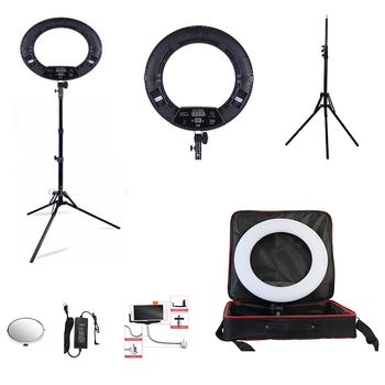 Yidoblo Black FD-480II LED Ring lamp Kit 480 LED Warm & Cold Adjust Light Lamp + light standing (2M)+ Soft bag