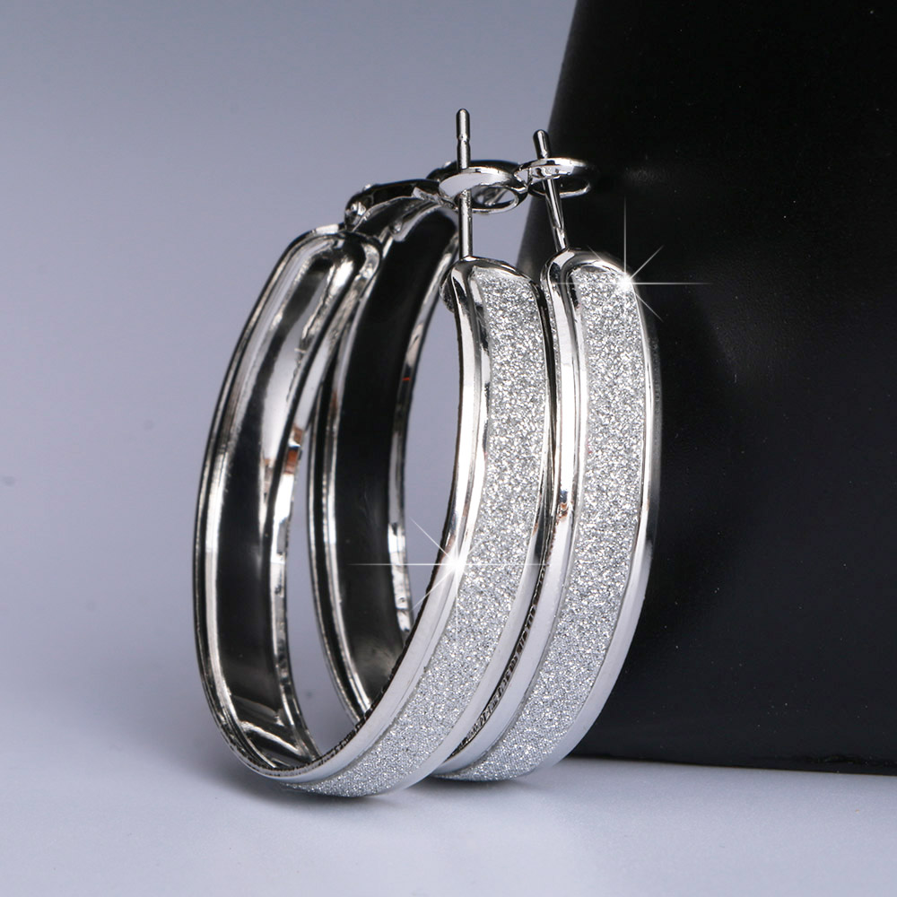 Новые матовые серьги-кольца, круглые золотые, серебряные, большие, панк, круглые, большие серьги кольца для женщин, вечерние ювелирные изделия 40 м, 50 м, 60 м