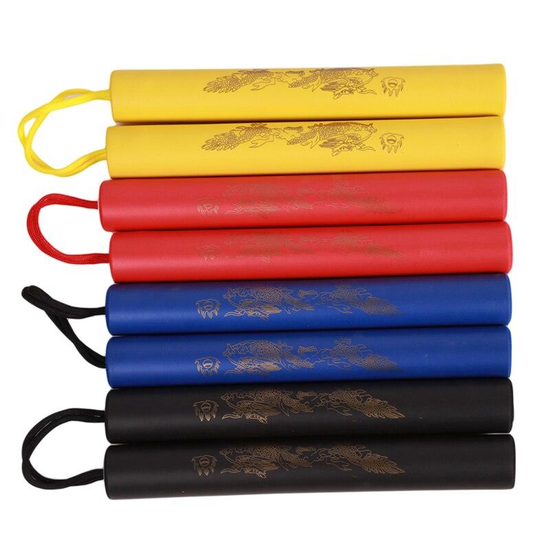 Martial Arts Foam Nunchakus Kids Rope Chains Plastic Nunchaku Child Kung Fu Wushu Nunchucks Trainer For Beginners