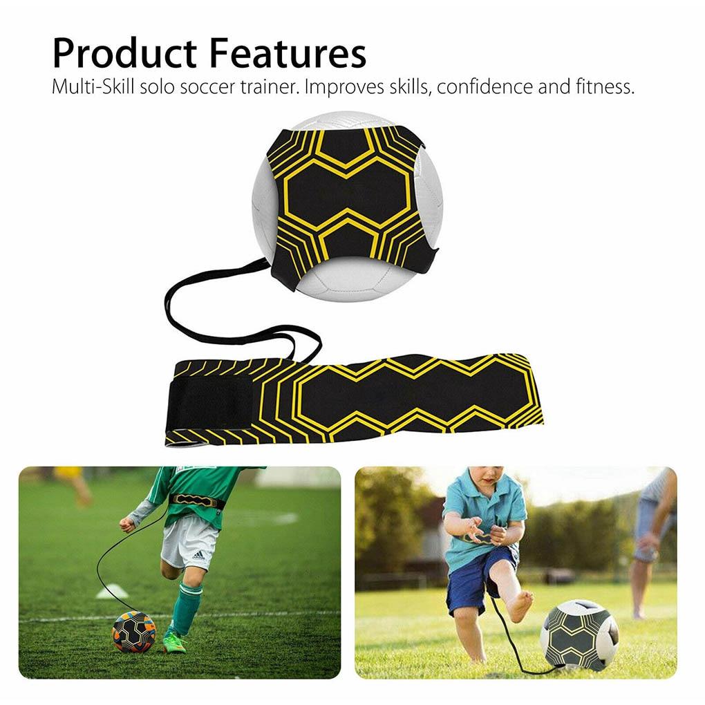 2020 Control Skills Kick Ball Football Strap Training Aid Durable Elastic Returner Neoprene Practice Hand-free Soccer Trainer