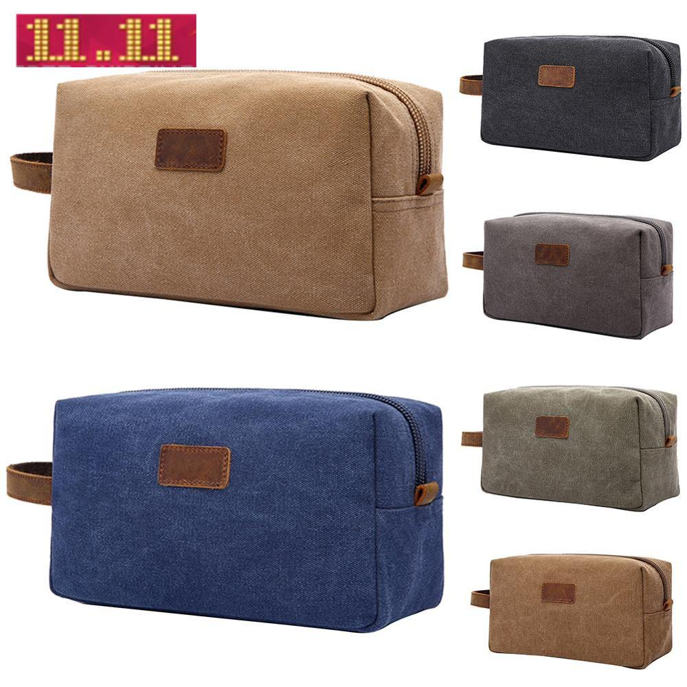 Retro Men Travel Shaving Dopp Kit Cosmetic Makeup Organizer Canvas Toiletry Bag 20119 9 New Fashion Cosmetic Cases Hot Sale