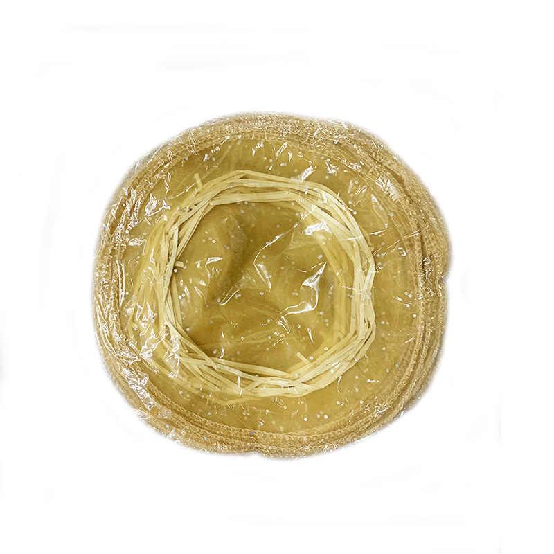 100 יח'\חבילה 35cm קוטר גזה תיק העגול אורגנזה פאוץ אריזת שקיות חתונה חג מולד סוכריות מתנת שקיות