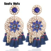 Neefu wofu большие серьги в стиле бохо очаровательные с кисточками