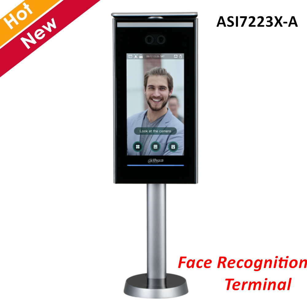 Dahua Access Control Standalone Face Recognition Terminal ASI7223X-A 7 Inch LCD Display 2 MP CMOS For Intercom Systems