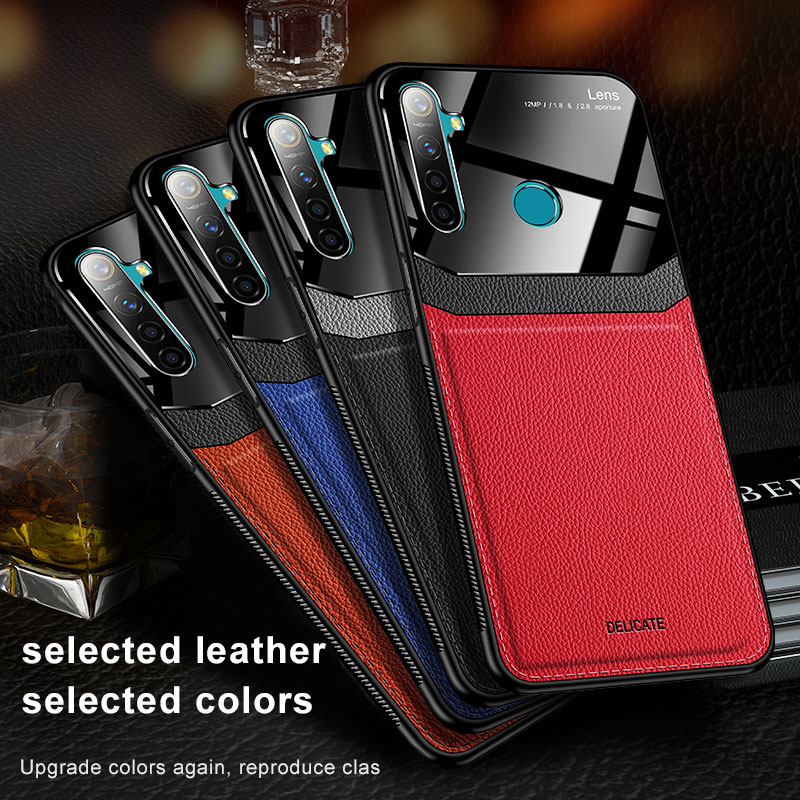 Redmi Note 9s Case for Xiaomi Redmi Note 9 8 Pro Cover Organic PC Grained Leather Skin-pattern Case for Redmi 9 Pro Max 8 8T