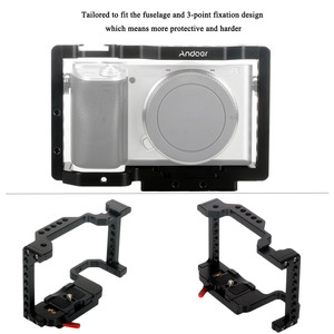 Image 4 - Andoer Camera Cage Video Stabilizer with Detachable Quick Release Plate Cold Shoe Mount for Sony A6500/A6400/A6300/NEX7 Camera