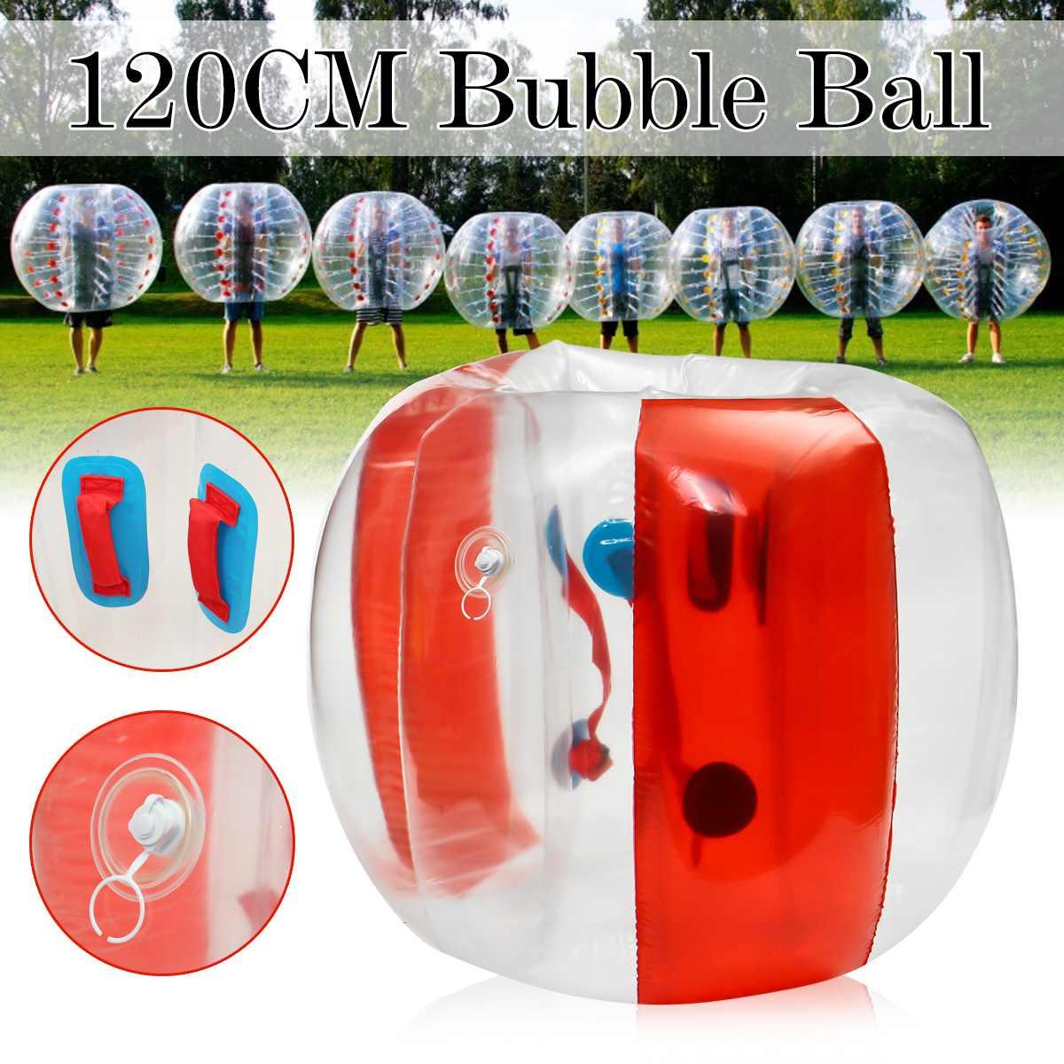 Bubble Voetbal Zorb Bal 120CM Bumper Bal Opblaasbare Body Zorb Bubble Bal Voetbal Kids Outdoor Speelgoed Kerstcadeau