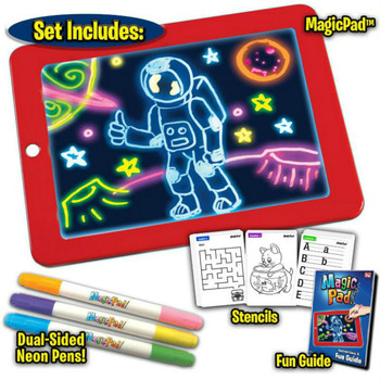 3D Magic Drawing Pad 8 Light Effects Puzzle Board 3D Sketchpad Tablet Creative Kids Pen Gift LEDs Lights Glow Art Drawing Toys
