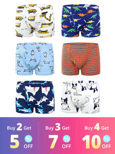Panties Briefs Boys Underwear Kids Boxer Organic Cotton Children's Teenager Baby