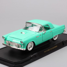 Road Signature large 1:18 scale 1955 Ford Thunderbird convertible Diecast Toy Vehicle Replicas vintage cars model for collection