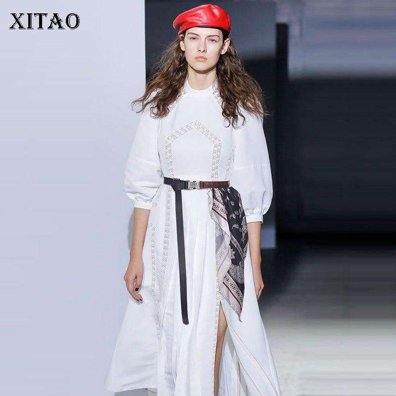 XITAO Women Fashion Cummerbunds 2020 Spring Print Pattern Small Fresh Elegant Small Fresh Patchwork Loose Cummerbunds XJ3388