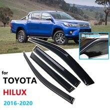 Rain-Guard SHELTERS Car-Window-Visor Toyota Hilux Car-Accessories for SR5 REVO Awnings