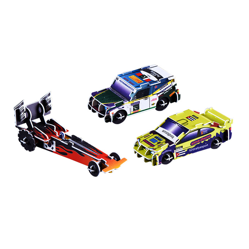 Huilong Puzzle Model Assembling Car Toy Plastic Gift For Children Model Kit Friends DIY  3D Puzzle Toys For Children Fun