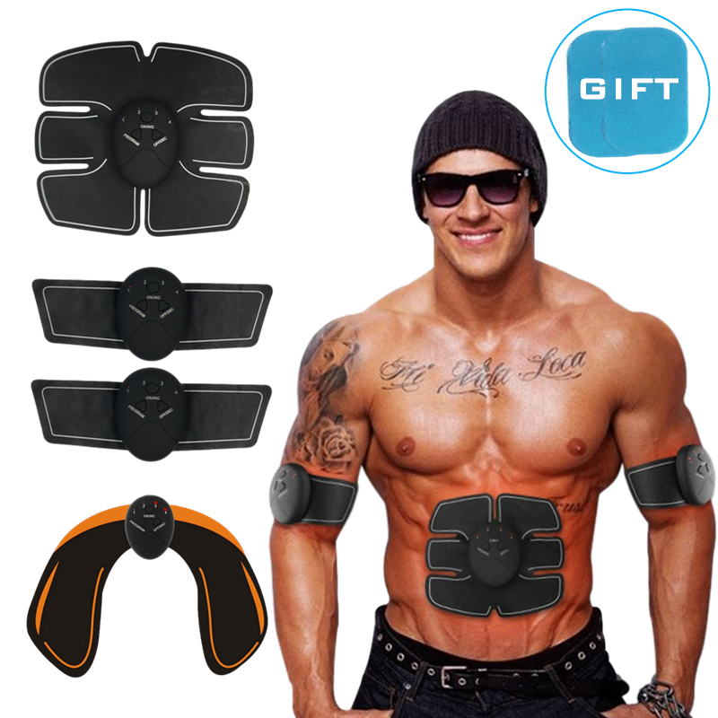 EMS ABS Muscle Stimulation Hip Trainer Wireless Electric Smart Fitness Abdominal Training Body Slimming Weight Loss Stickers