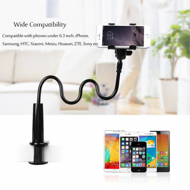 360 degree  Flexible Arm Table Pad Holder socket Stand Long Lazy People Bed Desktop Tablet Mount For Huaiwei for Xiaomi