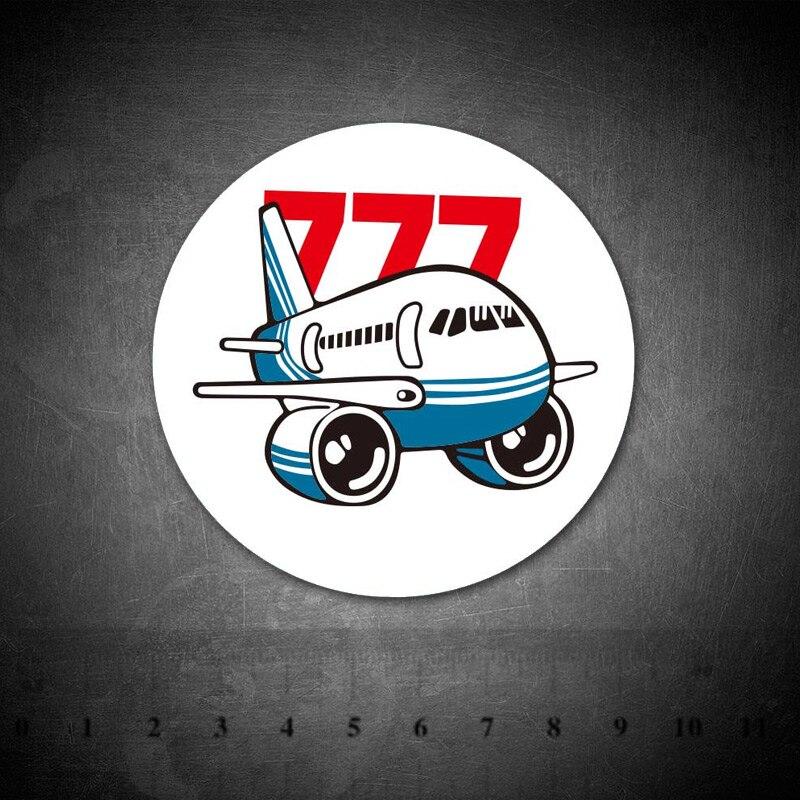 Cartoon Boeing 777 Stickers Waterproof For Luggage Car Guaitar Skateboard Phone Laptop Bicycle Moto Kids Sticker