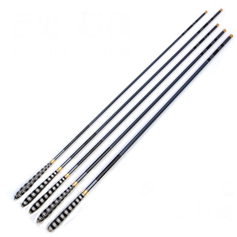 Hot Telescopic Carbon Fiber Super Hard Ultra Light Carp Fishing Pole Stream Fishing Rod Hooks 2.7/3.6/4.5/5.4/6.3/7.2m ALS88