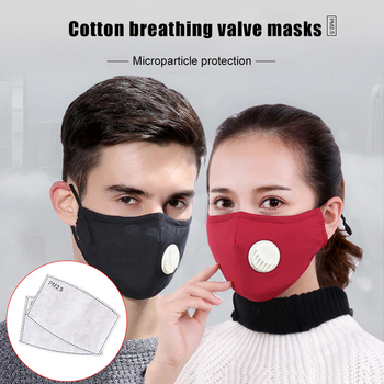 Security Pm2 .5 Anti Fog Mask Washable Anti Haze Mask Activated Filter Respirator Mouth Muffle
