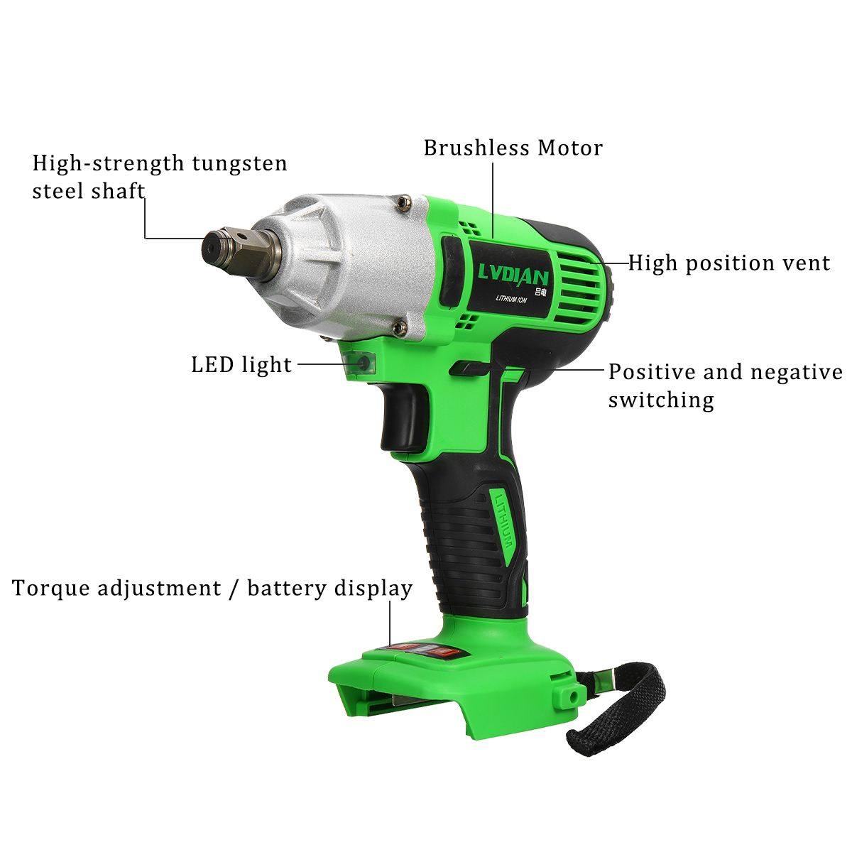 Spare Rechargeable Battery for Cordless Electric Wrench