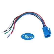 цена на 10Pcs Push Button Switch Socket Flame-Retardant Plastic Shell Wire Connector 5-Pin 16mm Button Switch Wire Connector