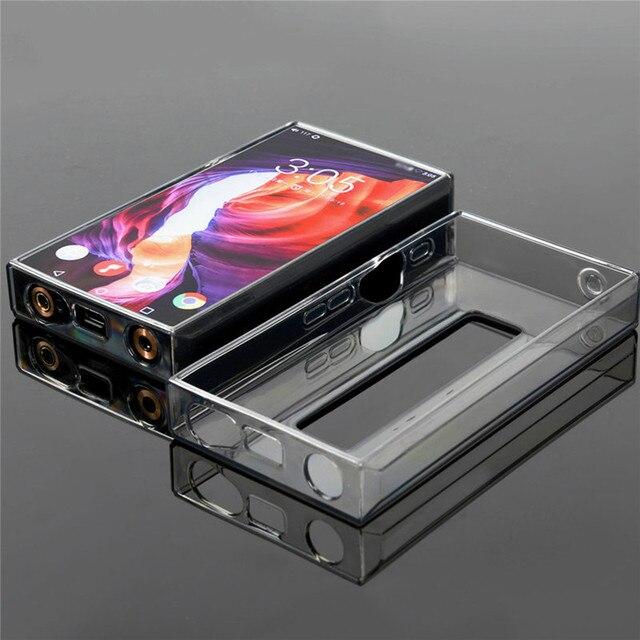 Yumuşak TPU Crystal Clear koruyucu kılıf FiiO M11 Pro müzik çalar aksesuarları deri tam kapak kılıf kol FiiO m11 Pro