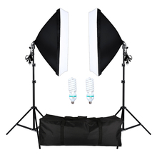 Photography Softbox Lightbox Kit 2 PCS E27 LED Photo Studio Camera Lig