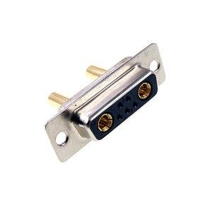 Image 4 - D conector Sub 30 AMP Actual 7 posición 5 + 2 Combo receptáculo hembra clavija mecanizada 7W2 oro montaje en Panel de alambre de soldadura