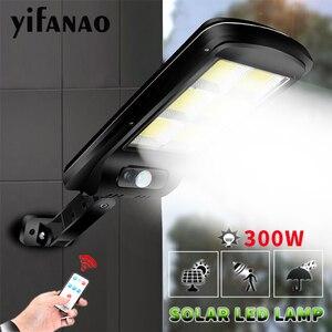 100000LM Solar light outdoors PIR Motion Sensor Wall lamp solar lamp Waterproof Solar Powered Sunlight for Garden Decoration