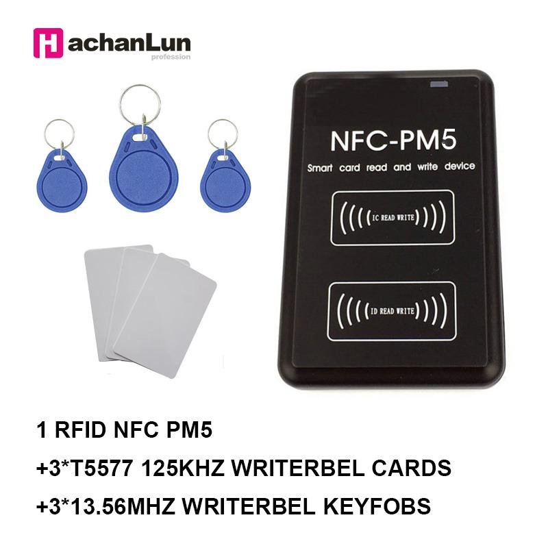 NEW PM5 Copier Writer IC 13.56MHZ RFID Reader ID 125KHZ NFC Full Decoding Function Card Duplicator